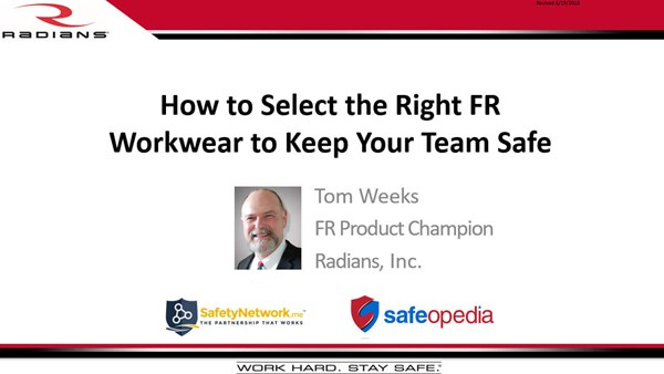 Image for Webinar: What to know about FR to keep your employees safe