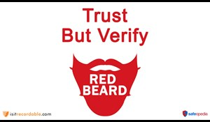 Image for Red Beard Safety Video - Trust but Verify