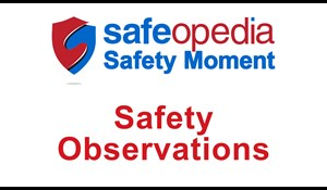 Image for Safety Moment Video - Safety Observations