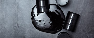 Spilled oil drum