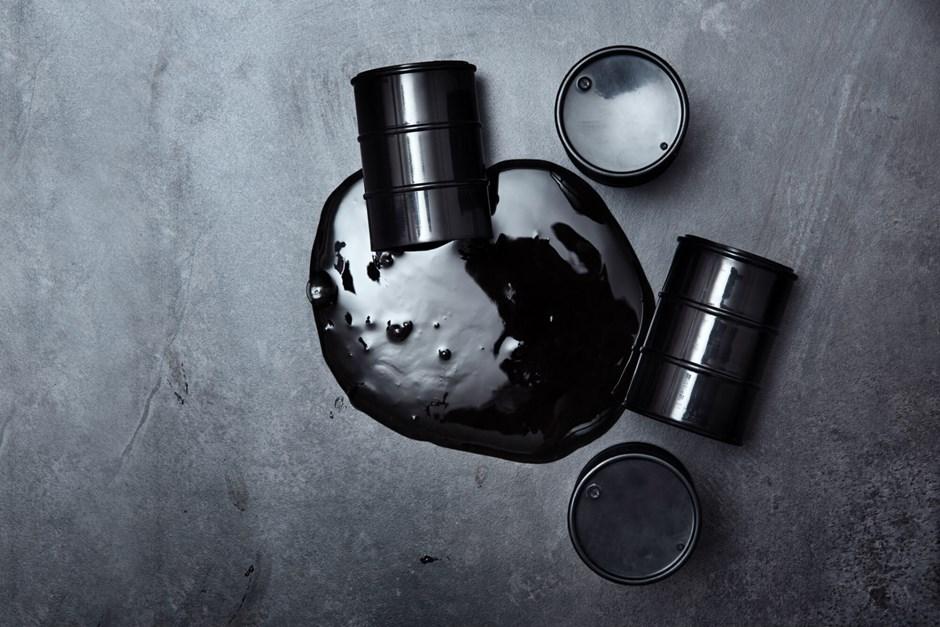 Spilled oil drum