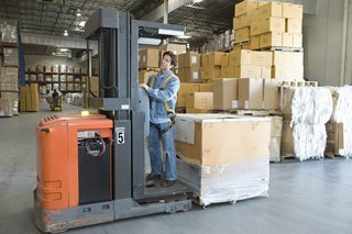 Is a sit-down forklift safer than a stand-up forklift?