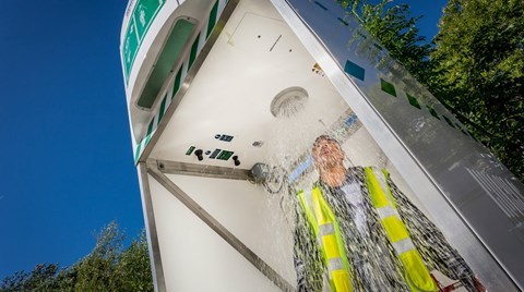 Emergency safety showers must deliver tepid water when used. Find out what that means and how you can achieve it.