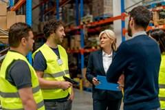 Warehouse meeting