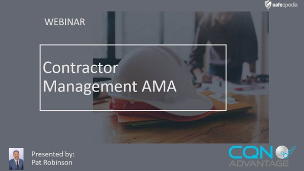 Image for Webinar:  Qualifying & Managing Contractors - Ask Me Anything