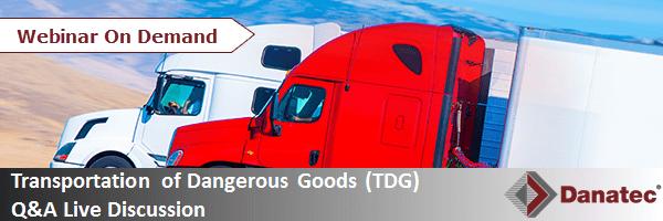 Transportation of Dangerous Goods (TDG) Q&A Live Discussion