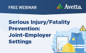 Serious Injury/Fatality Prevention: Joint-Employer Settings