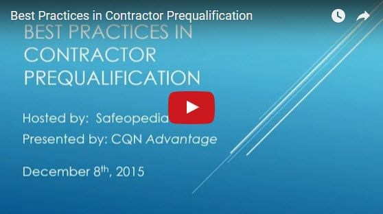 Webinar:  Best Practices in Contractor Prequalification