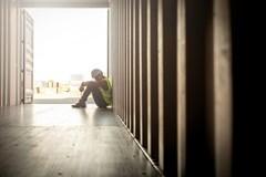 Despondent worker
